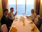 北川先生、武沢先生と食事